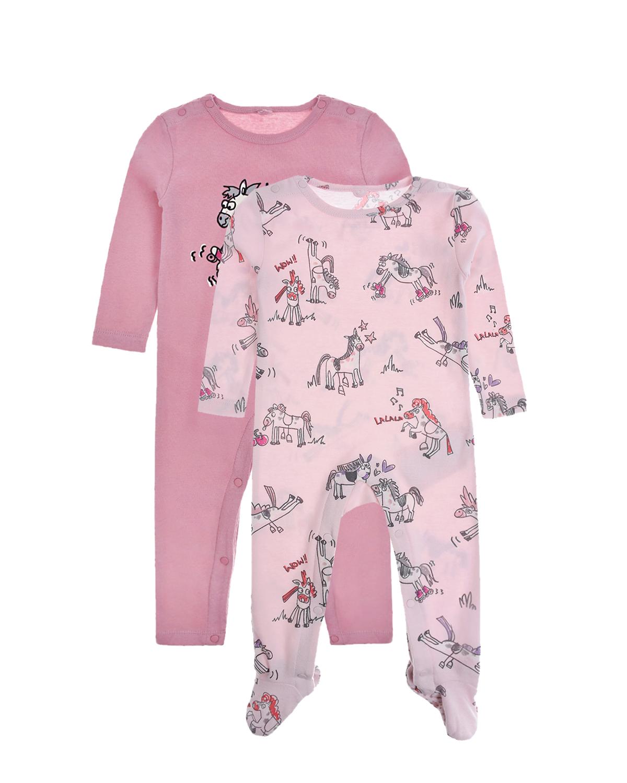 Купить Комплект из двух комбинезонов для девочки Stella McCartney детский, Розовый, 100%хлопок, 100% хлопок