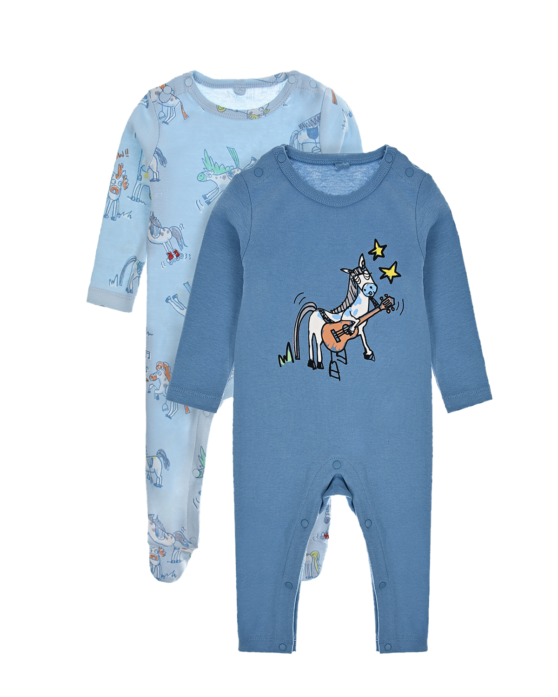 Купить Комплект из двух комбинезонов (синий, голубой) Stella McCartney детский, Мультиколор, 100%хлопок