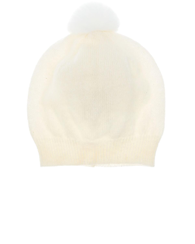 Купить Кашемировая шапка с помпоном Tomax детская, Нет цвета, 100%кашемир