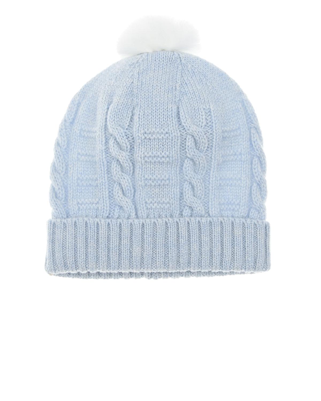 Купить Голубая шапка из кашемира Tomax детская, Голубой, 100%кашемир