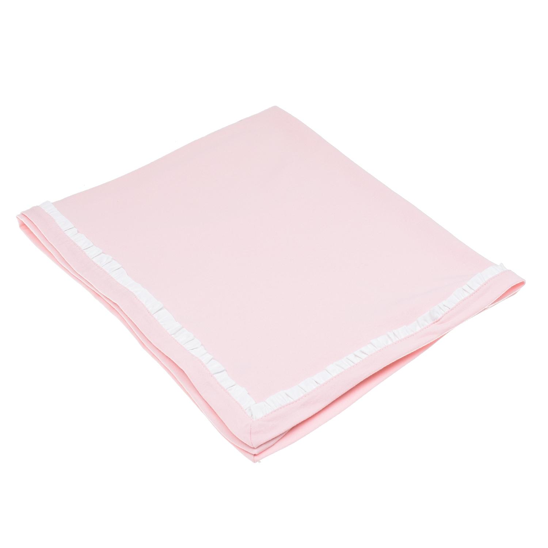Розовое одеяло с логотипом Emporio Armani детское розового цвета