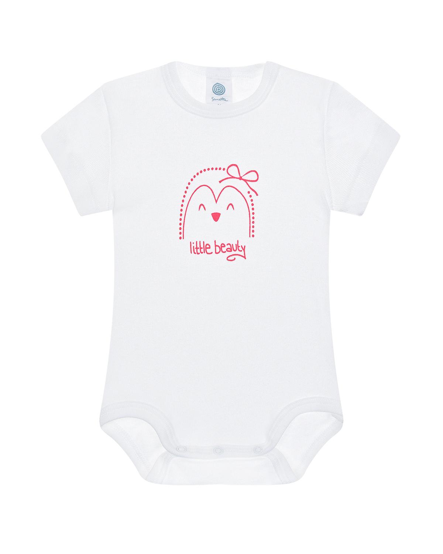 Купить Боди с принтом Пингвин Sanetta детское, Белый, 100%хлопок