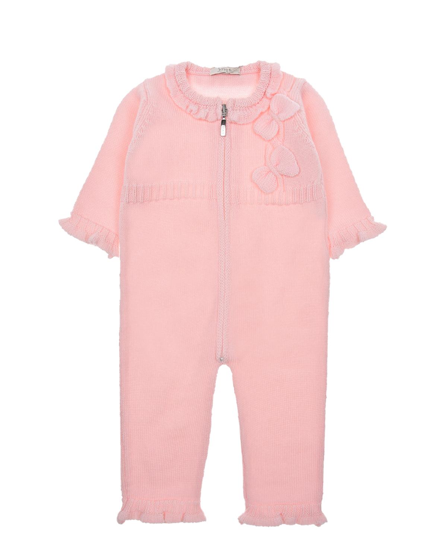 Купить Шерстяной комбинезон с декором бантики Tomax детский, Розовый, 100%шерсть