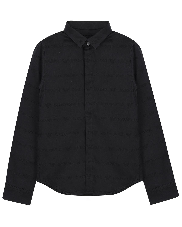 Купить Рубашка Emporio Armani детская, Черный, 100%хлопок