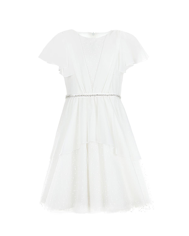 Белое платье со стразами Aletta детское фото