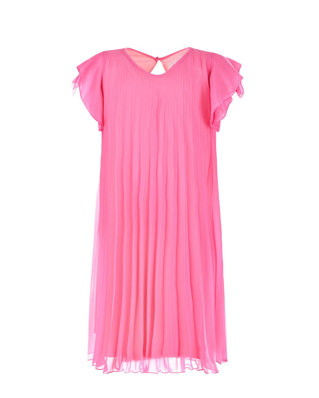 Купить Розовое платье со складками Aletta детское, Розовый, 92%вискоза+8%эластан, 100%полиэстер