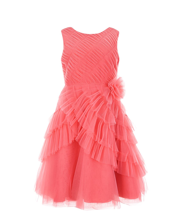 Купить Розовое платье с бантом Aletta детское, Нет цвета, 100%хлопок, 100%полиамид