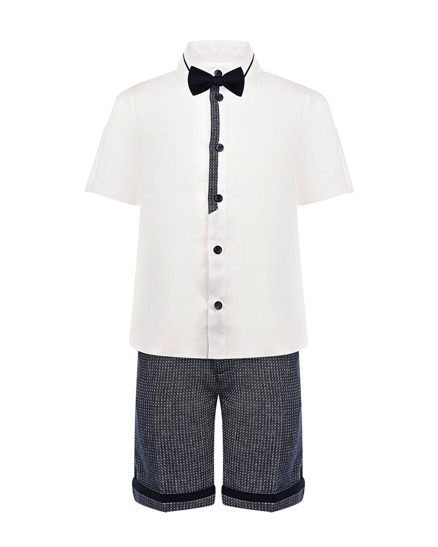 Купить Комплект: рубашка с бабочкой и шорты Baby A детский, Мультиколор, 100%рами, 49%лен+51%хлопок, 97%хлопок+3%эластан