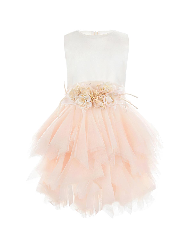 Платье без рукавов с многослойной розовой юбкой CAF детское фото