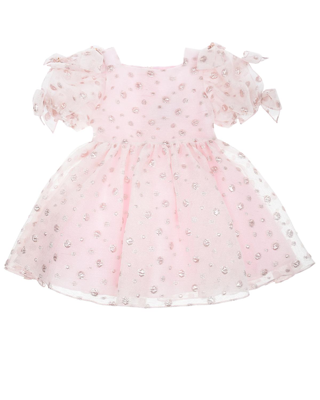 Купить Нарядное платье с декоративными бантами David Charles детское, Нет цвета, 75% полиэстер+25% металл, 100% хлопок