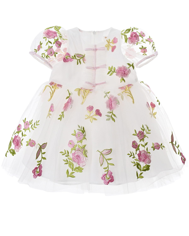Платье с вышитыми цветами David Charles детское фото
