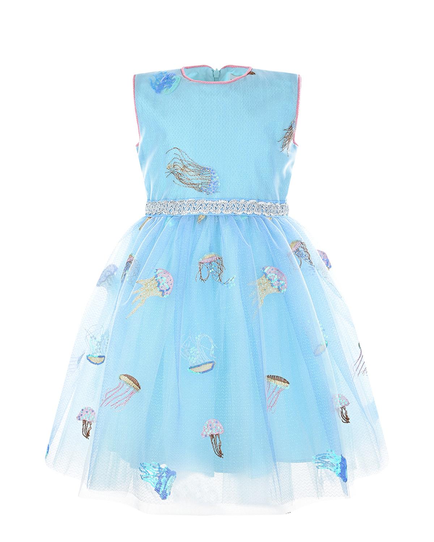 Купить Голубое платье с вышивкой Eirene детское