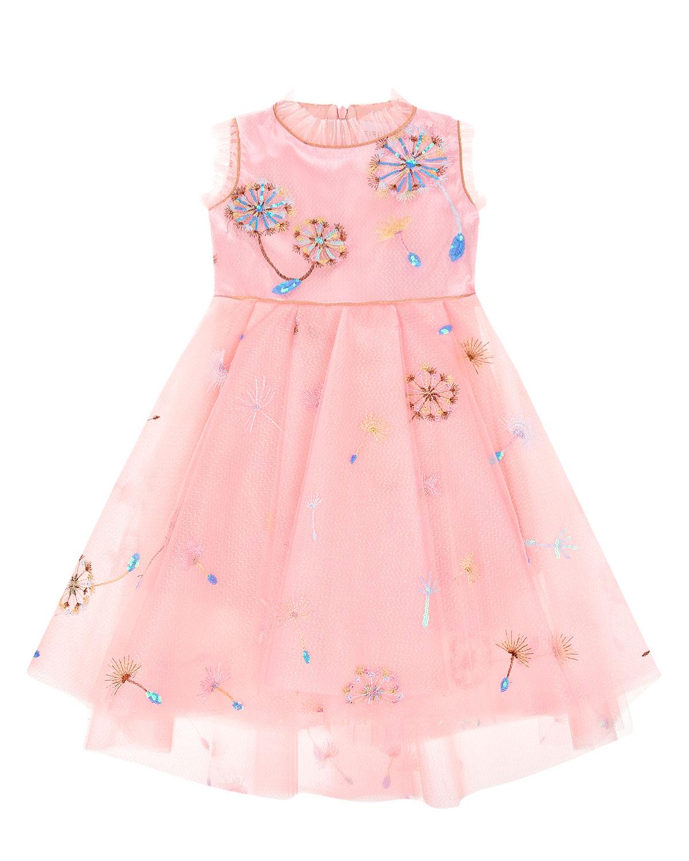 Купить Розовое платье с цветочной вышивкой Eirene детское