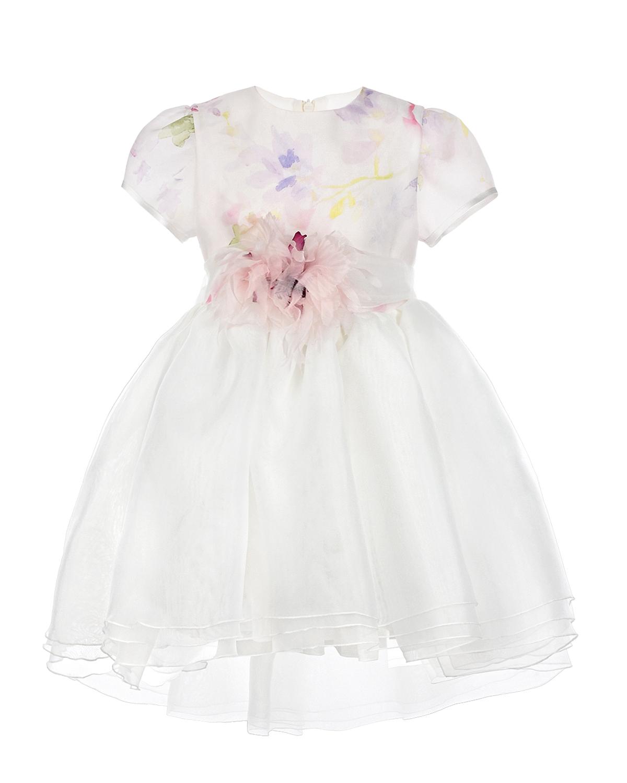 Нарядное платье с акварельным принтом и аппликацией CAF детское