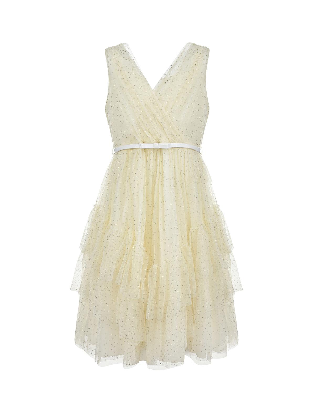 Купить Платье с белым поясом Aletta детское, Нет цвета, 100%хлопок, 100%полиамид