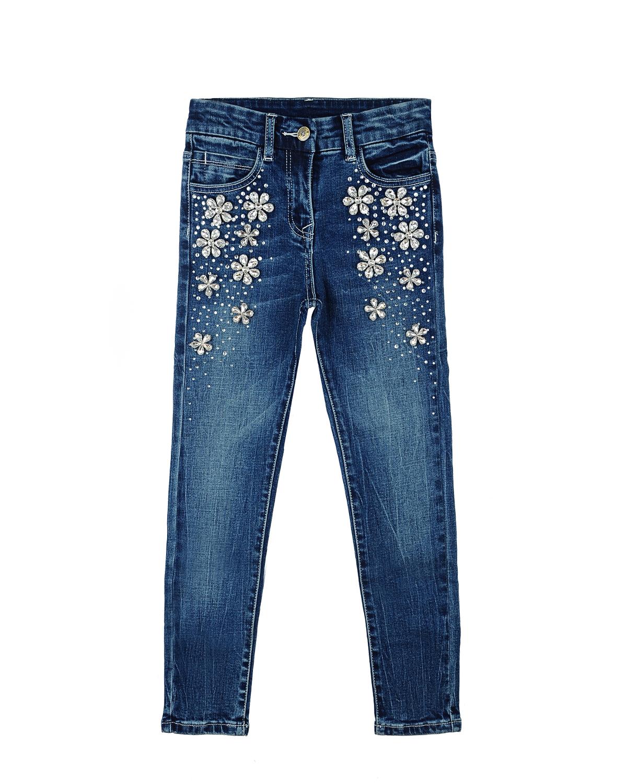 Брюки джинсовые MonnaLisa Couture для девочекДжинсы<br><br>