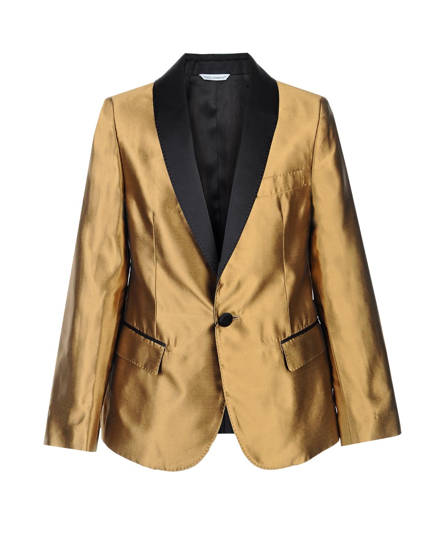 Купить Пиджак из шелка с узкими лацканами, Dolce&Gabbana