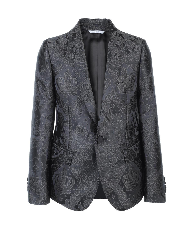 Купить Жаккардовый пиджак с застежкой на пуговицу, Dolce&Gabbana