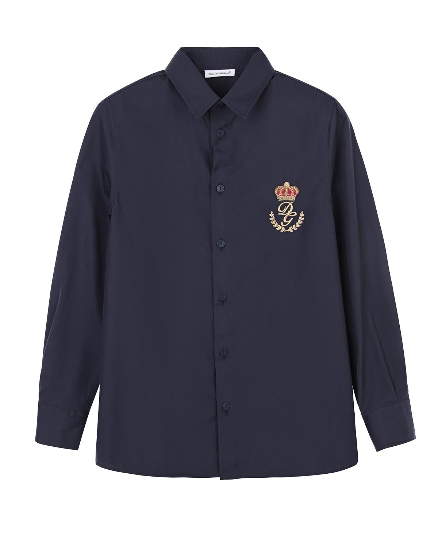 Купить Рубашка с вышитым логотипом, Dolce&Gabbana