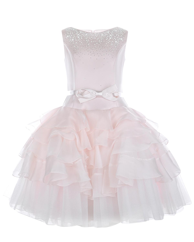 Платье с пышной многоярусной юбкой Monnalisa