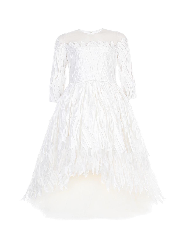 Купить со скидкой Белое шелковое платье