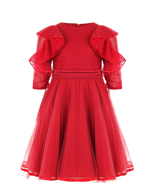 Купить Красное платье с оборками Aletta