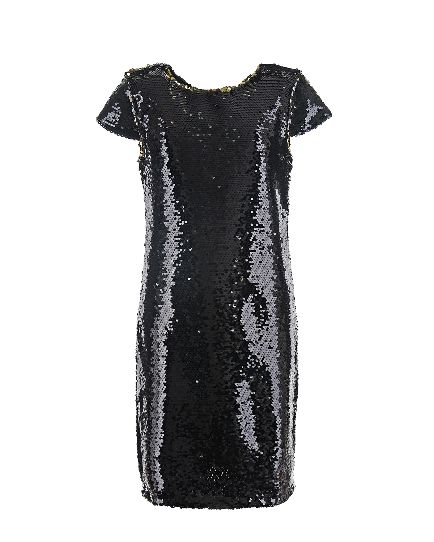 Купить Черное платье из пайеток Dan Maralex детское, Белый, 100%полиэстер, 92%хлопок+8%эластан