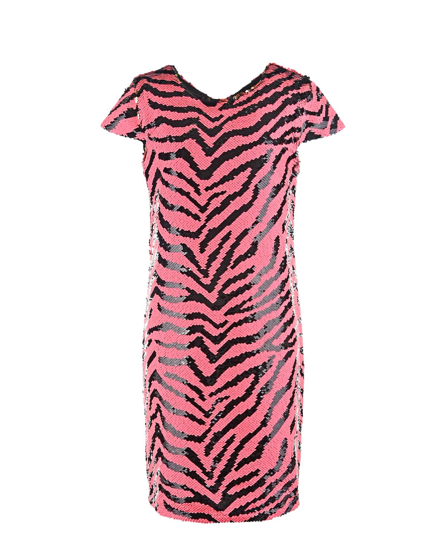 Купить Платье в полоску из пайеток Dan Maralex детское, Белый, 100%полиэстер, 92%хлопок+8%эластан
