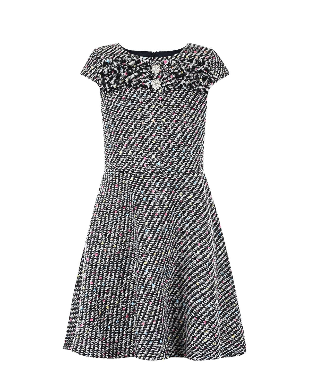 Платье из фактурной ткани с пайетками David Charles детское фото