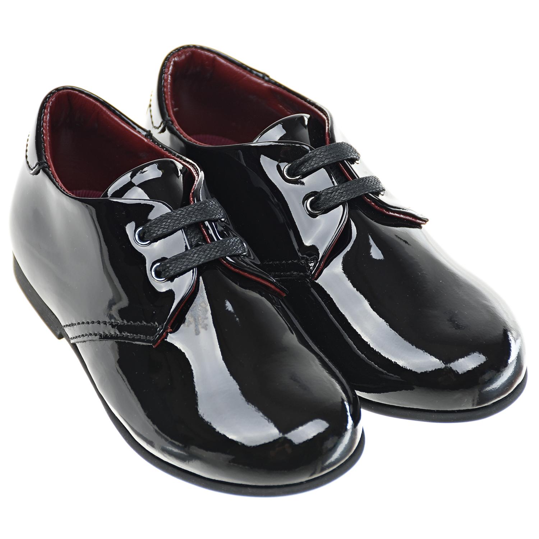Купить Черные туфли из лаковой кожи Dolce&Gabbana детские, Черный, верх:100%нат.кожа, подкладка:100%нат.кожа, стелька:картон, текстиль(80%шелк+20%вискоза), пенополиуретан, подошва:100%резина