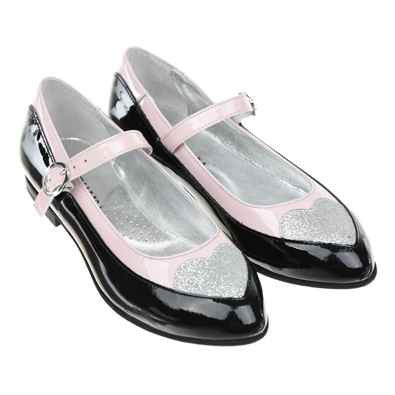 Туфли из лакированной кожи с глиттером Monnalisa детские фото