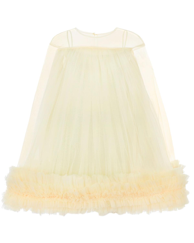 Пышное платье из фатина с оборками Nikolia детское фото