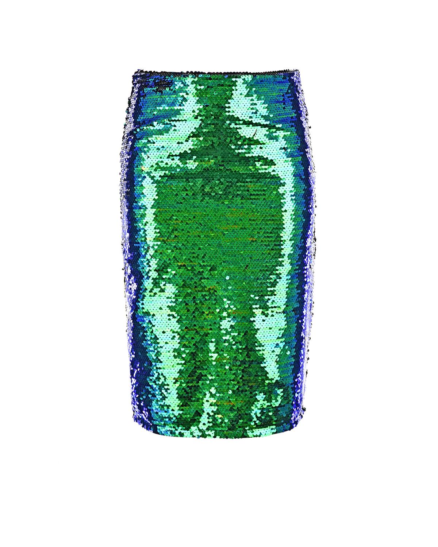 Двухцветная юбка из пайеток Dan Maralex детская фото