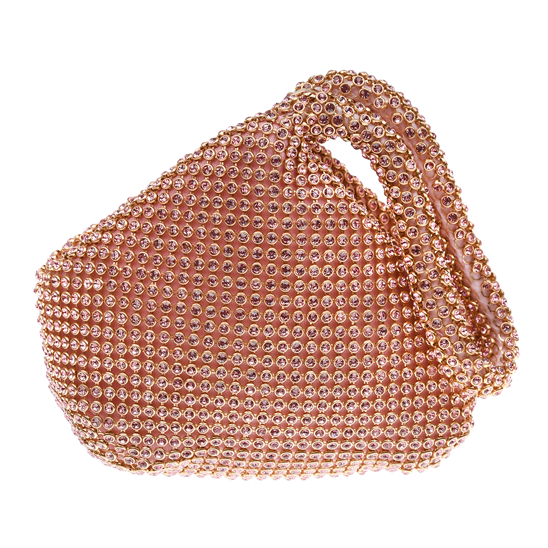Купить Сумка со стразами 12х6х13 см David Charles детская, Розовый, 100%полиэстер, пенополиуретан, металл, стразы