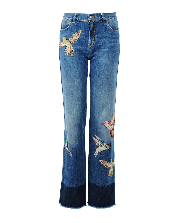 Брюки джинсовые Red ValentinoРасклешенные<br><br>