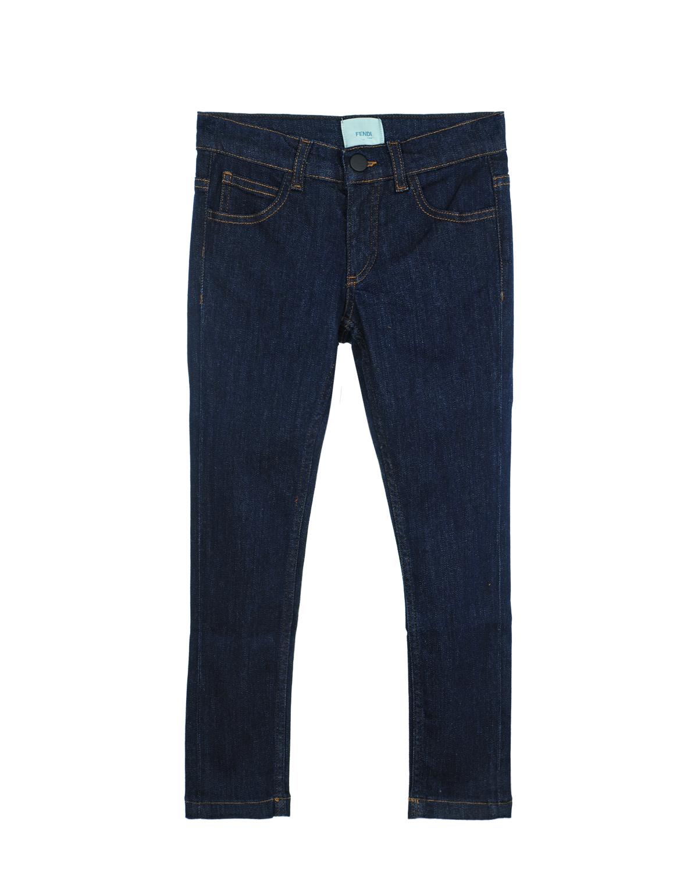 Купить Джинсовые брюки с аппликацией, Fendi