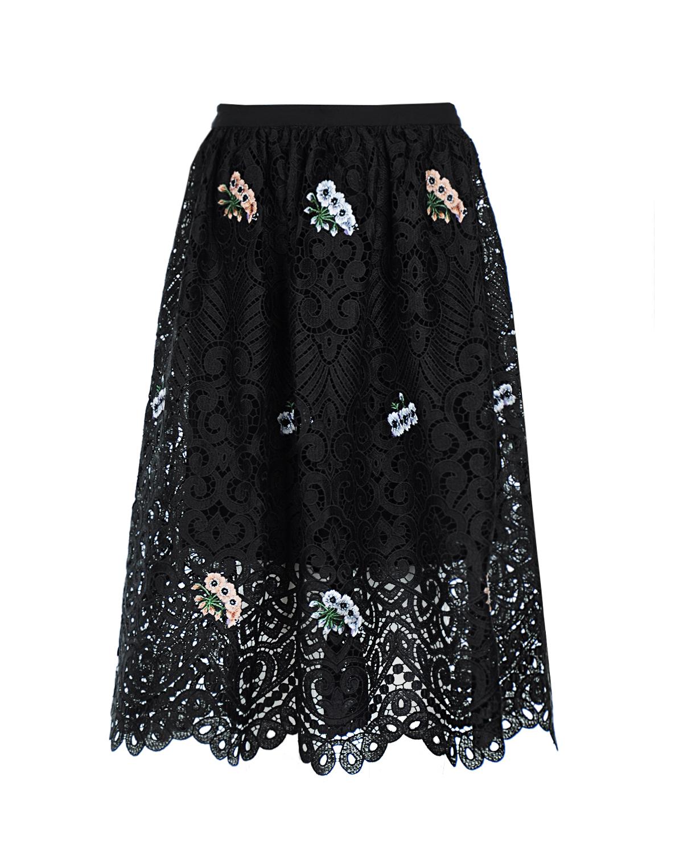 Купить со скидкой кружевная юбка с вышивкой Markus Lupfer
