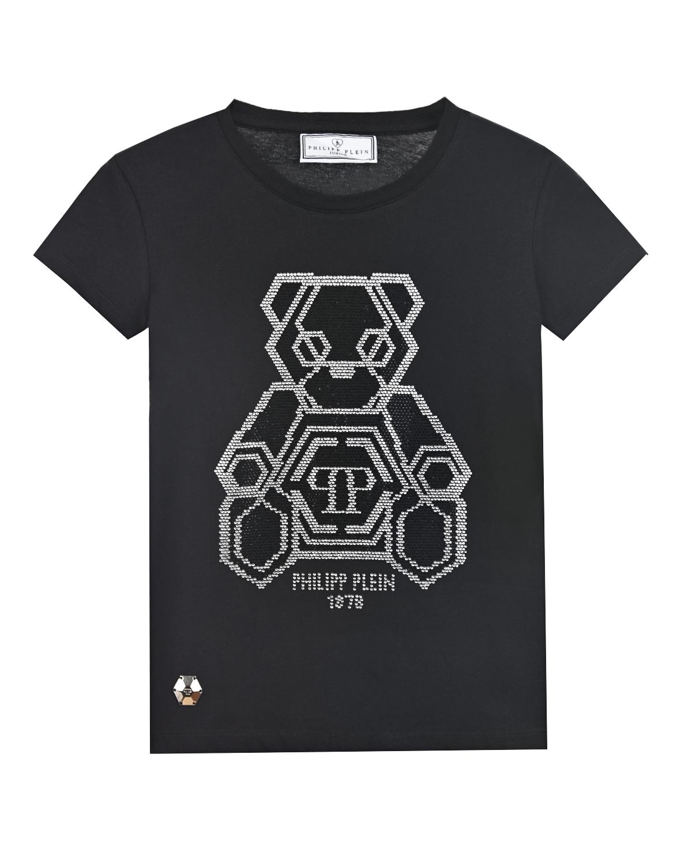 футболка с коротким рукавом philipp plein для девочки