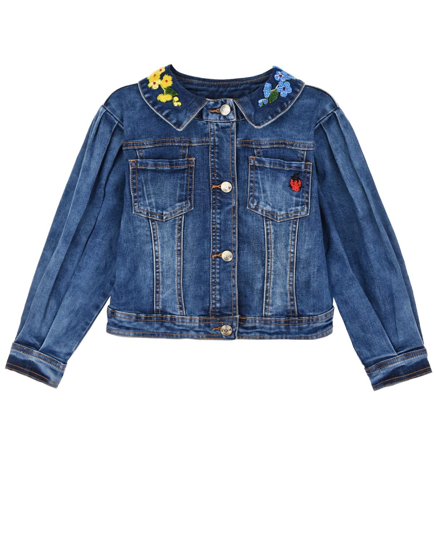 Купить Джинсовая куртка с вышивкой Monnalisa детская