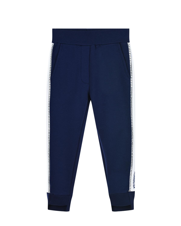 Купить Синие спортивные брюки с лампасами Monnalisa детские
