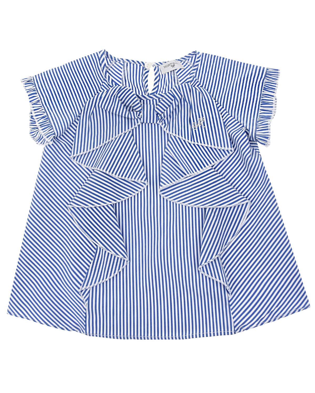 Блуза в сине-белую полоску Monnalisa детская фото