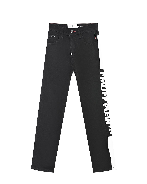 Черные джинсы с лампасами Philipp Plein детские фото