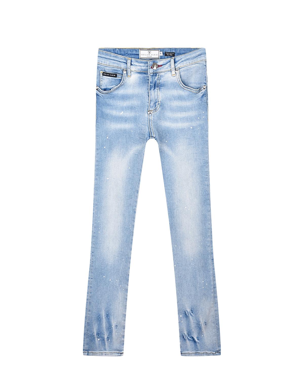 потертые джинсы philipp plein для девочки