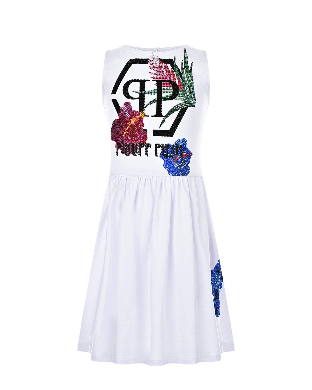 платье без рукавов philipp plein для девочки