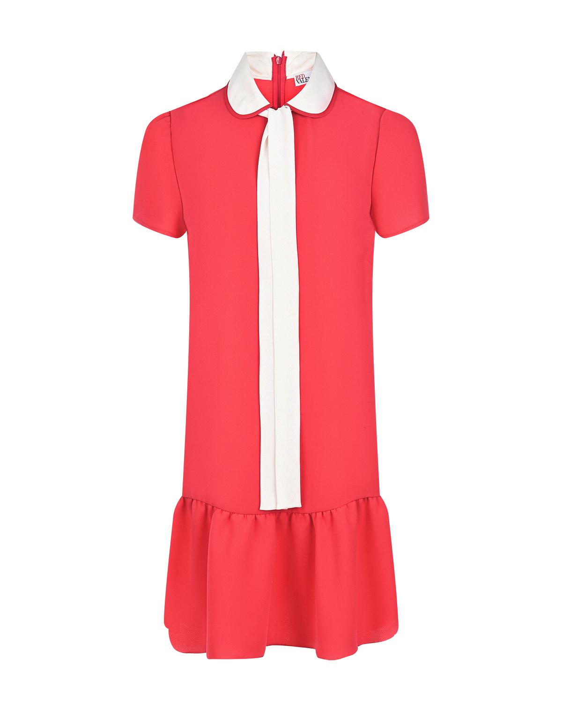 Платье с контрастной завязкой на вороте Red Valentino фото
