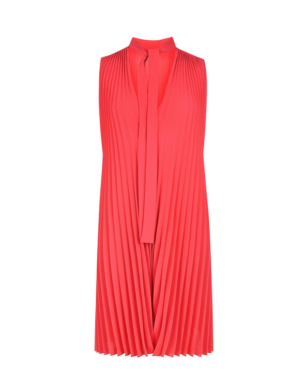 Плиссированное платье с завязкой на вороте Red Valentino фото