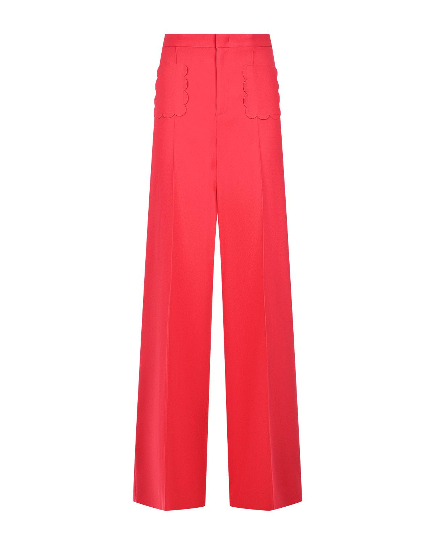 Прямые брюки с рельефными карманами Red Valentino фото