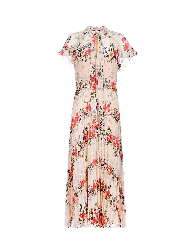 Платье с плиссированной юбкой и завязкой на вороте Red Valentino фото