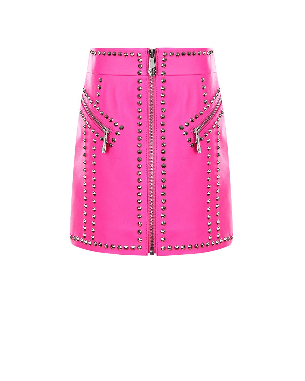 кожаные юбка philipp plein для девочки