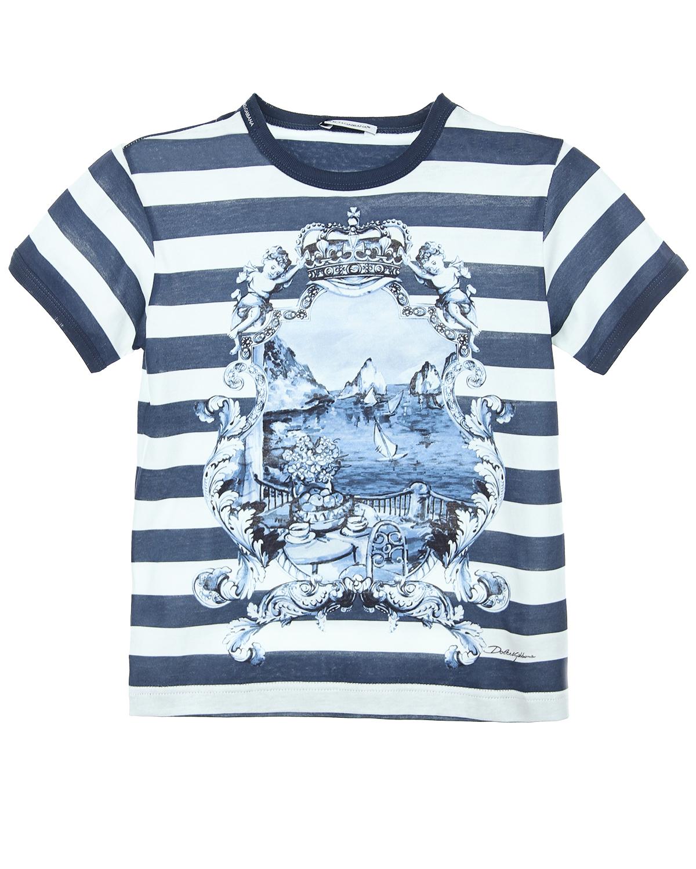 Футболка Dolce&amp;Gabbana для мальчиковФутболки, Майки, Поло<br><br>